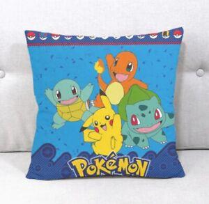 POKEMON Pikachu & Friends Cushion Cover 45 X 45 cm New gift decor kids pillow