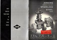 Stainless Steel Valves 1959 Catalog Jenkins Bros. New York Ny Gates Globes
