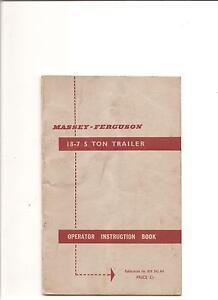 FERGUSON 5 TON TRAILER INSTRUCTION BOOK.................. ORIGINAL18-7 MANUAL