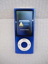 Apple iPod nano 8GB 5th generation Blue MC037LL  MP3 Radio Video AS-IS DEAD BATT