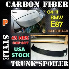 CARKING 04-11 CARBON FIBER BMW 1-SERIES E87 HATCHBACK P style ROOF TRUNK SPOILER