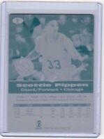 1/1 SCOTTIE PIPPEN 1996 SCORE BOARD #2 Printing Press Plate 1 of 1 CHICAGO BULLS