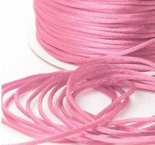 Satin Cord Ribbon Pink - 2mm x 100 metres, Signature Cord Roll