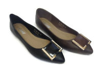 New Womens Ladies Stylish Pointy Patent Court Shoes Work Party Flats Pumps UK