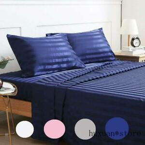 Satin Silk Sheet Bedding Set Luxury Bed Linen Set Sheets Mattress Bedspread Bed