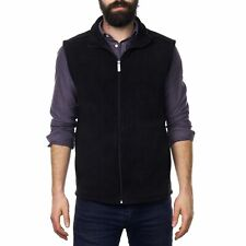 Alpine Swiss Mens Full Zip Up Fleece Vest Lightweight Warm Sleeveless Jacket