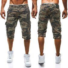 Kurze Herren-Cargo-Shorts aus Baumwolle mit normaler Passform