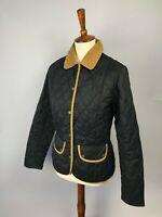 Barbour Women's Vintage Quilt Black Jacket US6 UK10