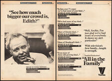 ALL IN THE FAMILY__Crowd Size?__Original 1978 Trade print AD / poster / TV promo