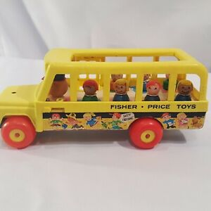 Vintage 1965 Fisher Price Little People School Bus 192
