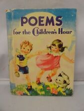 Poems For the Children's Hour McLoughlin 1939 Pointer Illustrated Color Litho