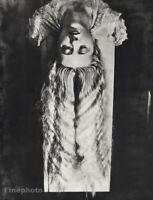 1929 Original MAN RAY Surreal Female Portrait Long Hair Vintage Photo Gravure