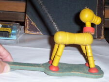 1950'S-PULL STRING DANCING DOG TOY(WOODEN)