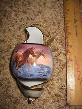 1 Free as the Wind Collectible Bradford Exchange Horse Ornament