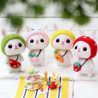 Cute Rabbit Cartoon Wool Felt Craft DIY Poked Set Handcraft Needle Material YK