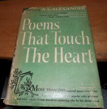 1941 BOOK : Poems That Touch the Heart  232pp Hardcover by A.L. Alexander