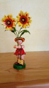 Hubrig Blumenkind groß 24 cm Mädchen mit Sonnenrose