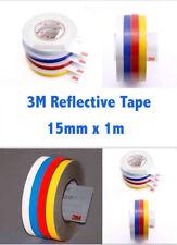 3M Blue Reflective Tape 15MM x 1 M Adhesive Vehicle Safety Viny sticker Strip