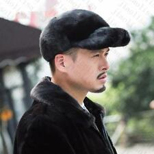 Genuine Winter Men Real New Mink Fur Hat Cap Headgear Beanie Beret   QS 0045