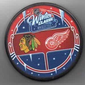 2009 Winter Classic Chicago Blackhawks Detroit Wrigley NHL Hockey Puck FREE Cube