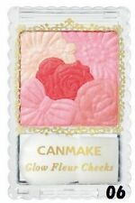 ☀CANMAKE☀ 06 Milky Red Glow Fleur Cheeks Blush Powder with Brush Japan quality!