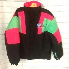 Sunice Plymouth Ski Series Womens Jacket Black Pink Color Block Zip Vintage L/XL