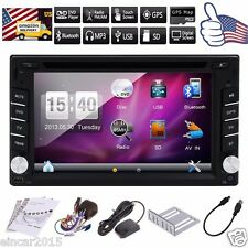 GPS Navigation 2 DIN In Dash Car Stereo DVD MP3 Player Bluetooth Radio PC+8G Map
