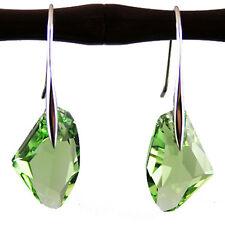 Péridot vert 6656 19mm diamant cristal en argent sterling 925