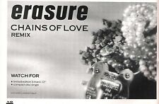 ERASURE Chains of Love 1988 UK magazine ADVERT / mini Poster 8x6 inches