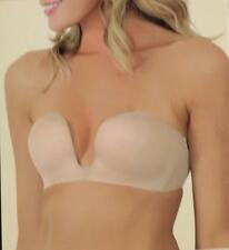 NWT FASHION FORMS 29675 U Plunge Wirefree Convertible Strapless Bra 38C Nude NOS
