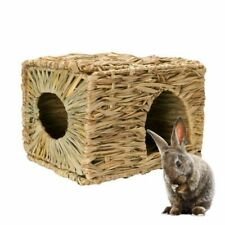 Grass Woven Hamster Nest Foldable Small Pets Guinea Pig Rabbit Handcraft Cage