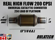 High Flow Diesel Universal Catalytic Converter 4 Round 2 Id With 25g Load