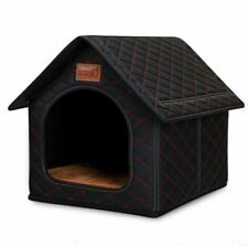 Waterproof Pet Dog Cat House Beds Kennel Tent Cushion Mat Microfiber Leather S,M