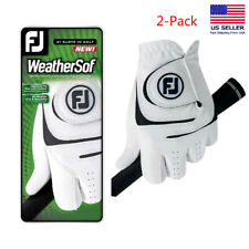 NEW FJ FootJoy Men's WeatherSof 2-Pack Golf Gloves White LEFT HAND Select Size