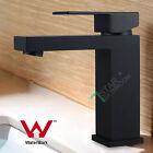 Matt Black Square Basin Flick Mixer tap Bathroom Sink faucet Brass Watermark