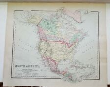 Antique Colored MAP/Gray's - NORTH AMERICA - The National Atlas 1893