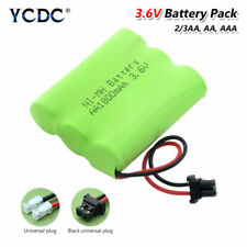 3.6V AA AAA 2/3AA Rechargeable Ni-MH Battery Pack Group Universal Connectors 1F