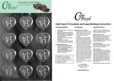 Wedding Hearts Chocolate Candy Mold, In Sealed Poly Bag w/Instructions