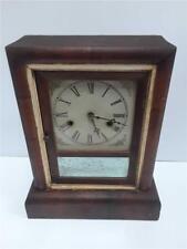 Antique 1868 Gilbert Mantle Clock Mahogany Empire Case
