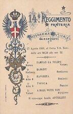 A3047) FOGGIA, 14 FANTERIA BRIGATA PINEROLO. PROGRAMMA MUSICALE 27/8/11.