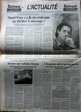 Journal LE FIGARO 1997: SAMI FREY_LOUIS-FERDINAND CELINE_YASSER ARAFAT