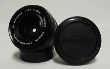 OEM MINOLTA MC W.Rokkor f/3.5 28mm Prime Wide-Angle Lens SLR Film Camera w/Caps