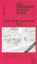 OLD ORDNANCE SURVEY MAP FLEET STREET & THE STRAND 1874