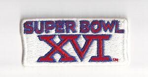 1982 Super Bowl XVI patch San Francisco 49ers vs Cincinnati Bengals Joe Montana