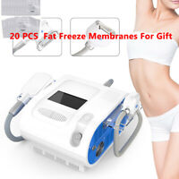 2 Handles Cold Freezing Machine Cooling Body Sculpting Double Chin Removal Salon
