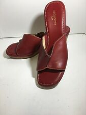 Life Stride Red  Wedge Sandal Size 7 Medium Excellent Condition