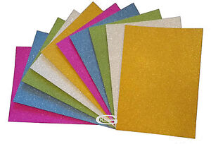 A4 SILVER GOLD PURPLE GREEN BLUE GLITTER SHEETS CARD MAKING CRAFTING PAPER ARTs