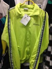 SERGIO TACCHINI TRACKSUITS TOP IN LIME GREEN AT £20 BNWL POLYESTER TAMPERED