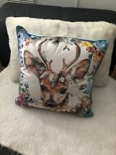 Two Gorgeous Doe Cushions Cream and Turquoise Buy Now £15.00