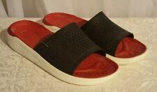 NEW Crocs Literide Men's 13 Sandal Slide Red Black Relaxed Fit NEW IN BAG